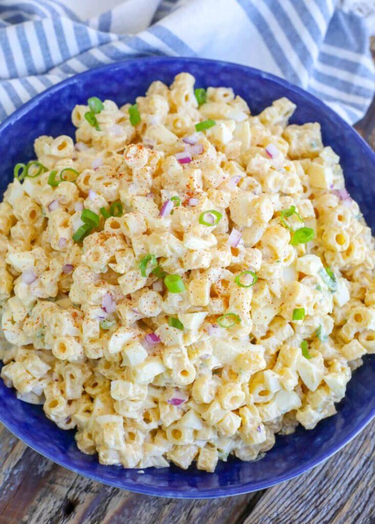 Deviled Egg Macaroni Salad for 4th of july celebreation