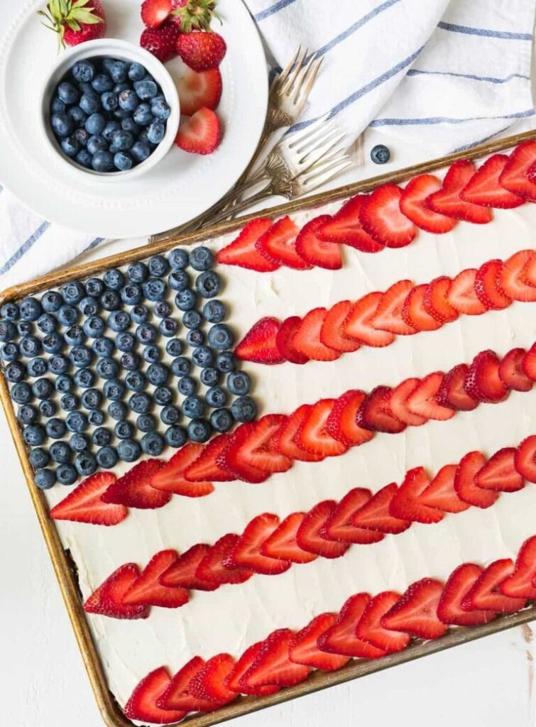 Flag cakefor 4th of july celebreation