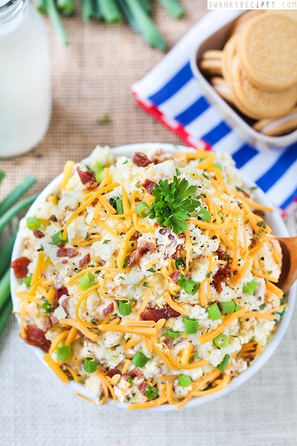 Loaded Baked Potato Salad for 4th of july celebreation