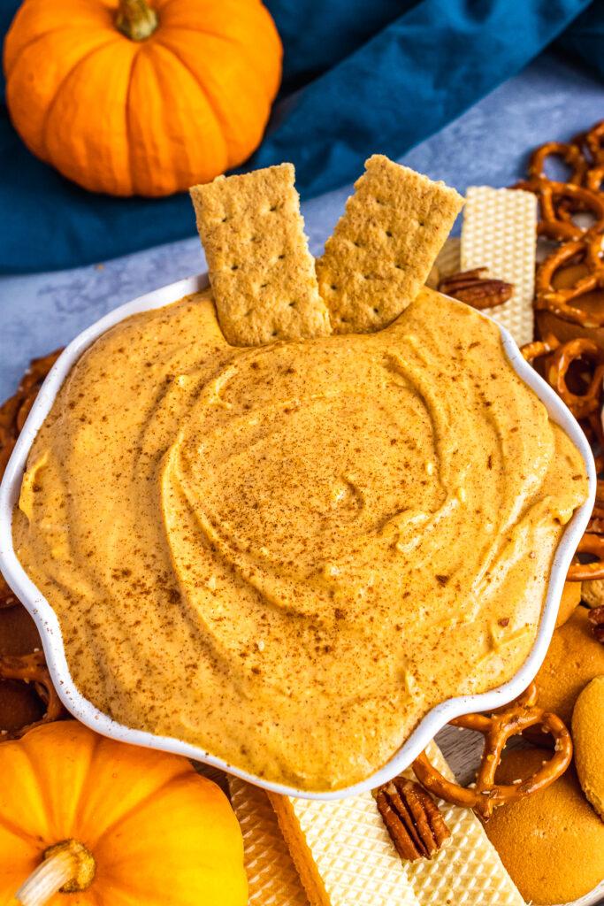 Bowl of Pumpkin Dip.